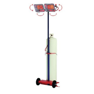 GT 28CA radiant gaz mobile