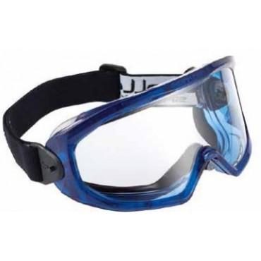 Lunettes-masque PVC bleue...